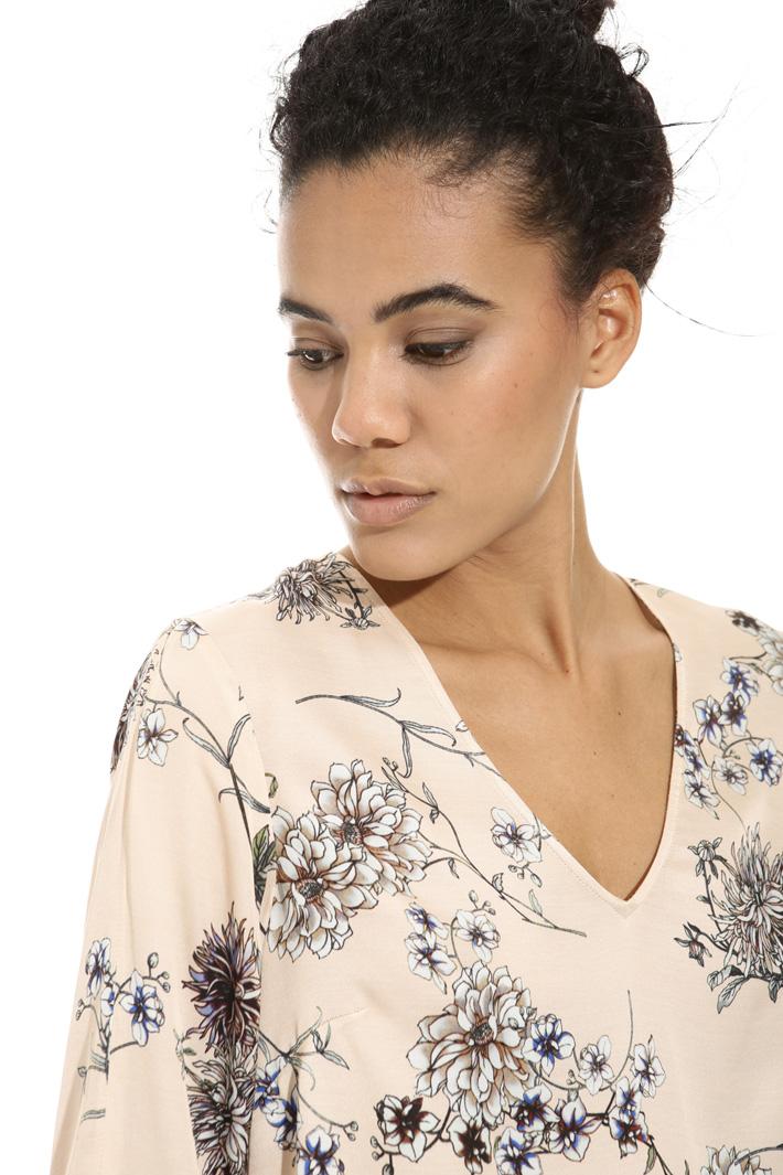 Blusa in raso stampato Fashion Market