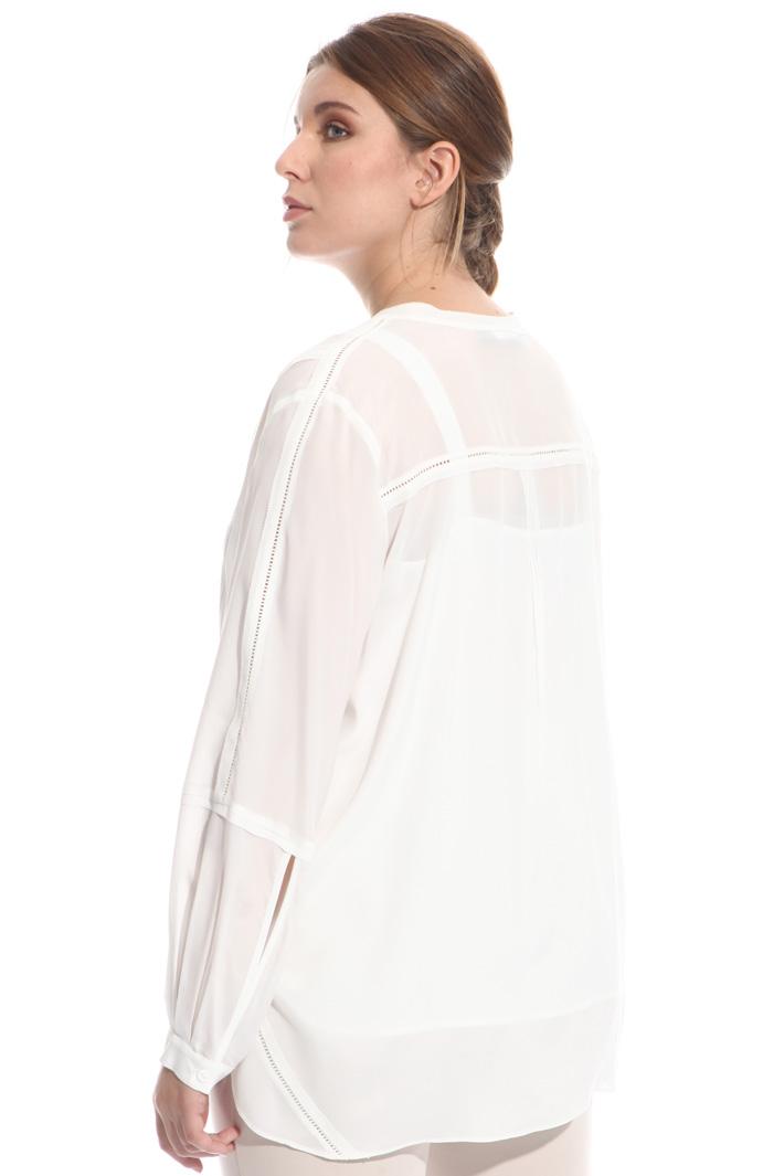 Camicia in sablé con ricami Fashion Market