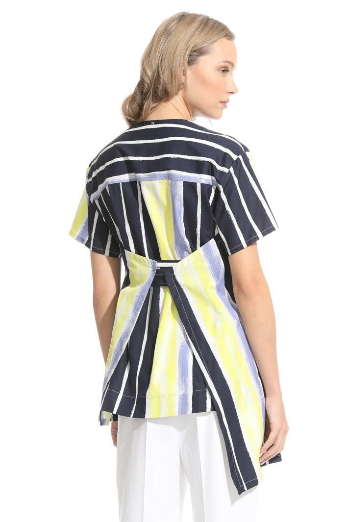 Camicia in cotone con cintura Fashion Market