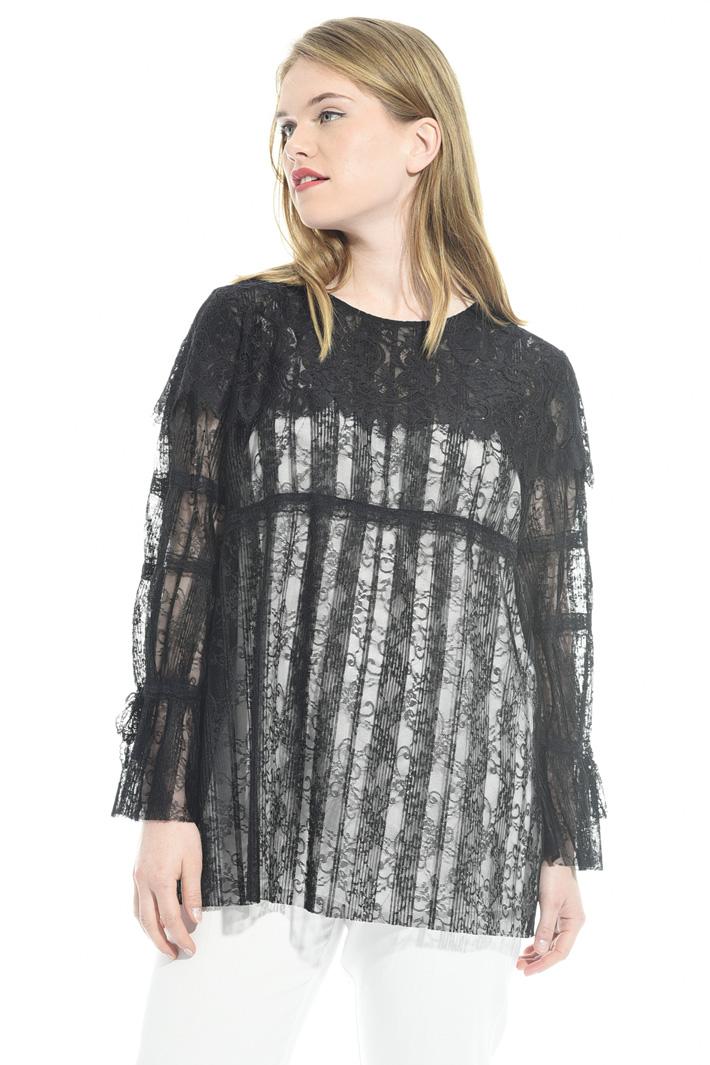 Blusa in pizzo plissé  Fashion Market