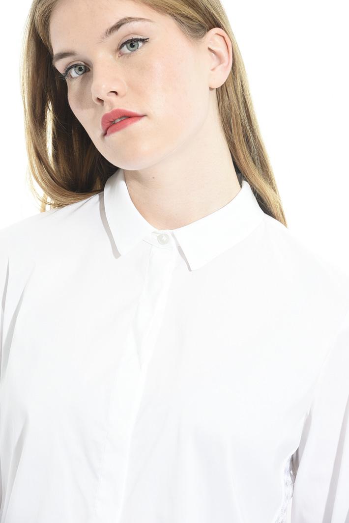 Camicia con inserto in tulle Fashion Market