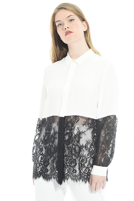 Camicia in seta e pizzo  Fashion Market