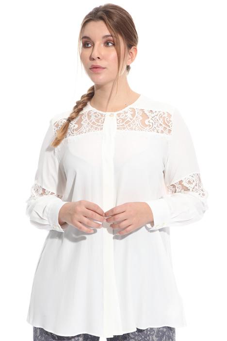 Camicia con inserti in pizzo Fashion Market
