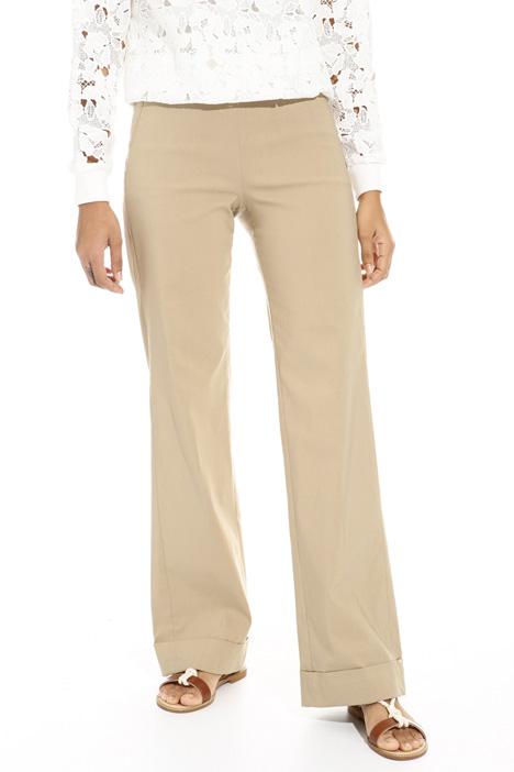 Pantalone ampio con risvolti Fashion Market