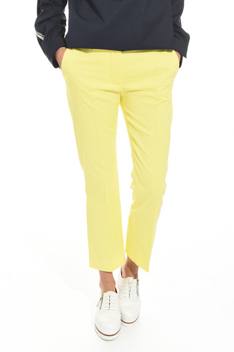 Pantalone flare in gabardina Fashion Market