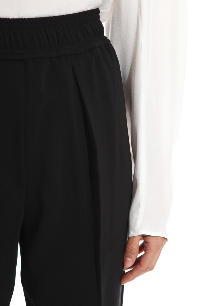 Pantalone a vita alta in cady Fashion Market