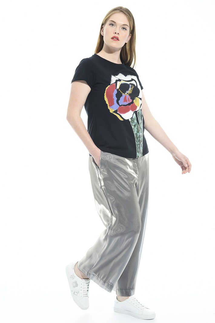 Pantaloni cropped in organza Fashion Market
