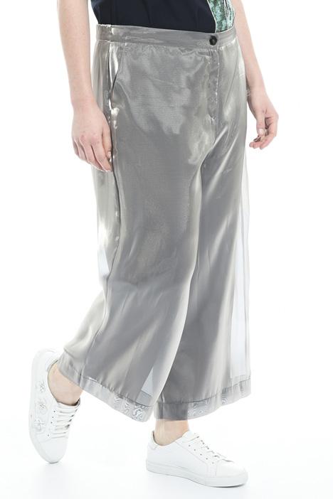 Pantaloni cropped in organza Fashion Market