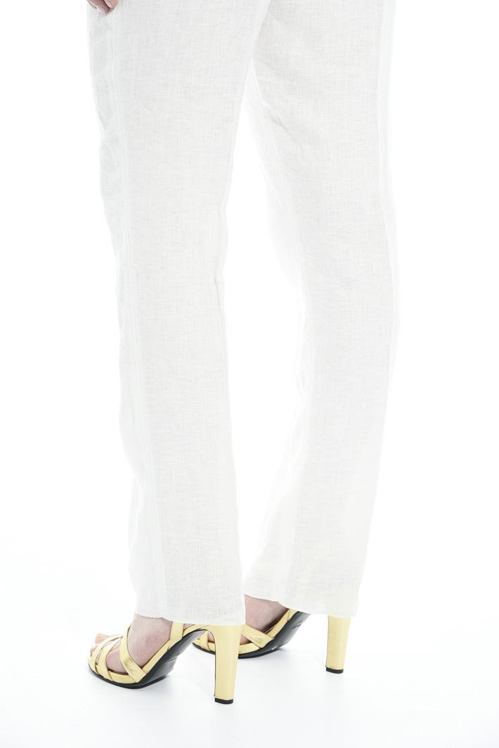 Pantalone in puro lino Fashion Market