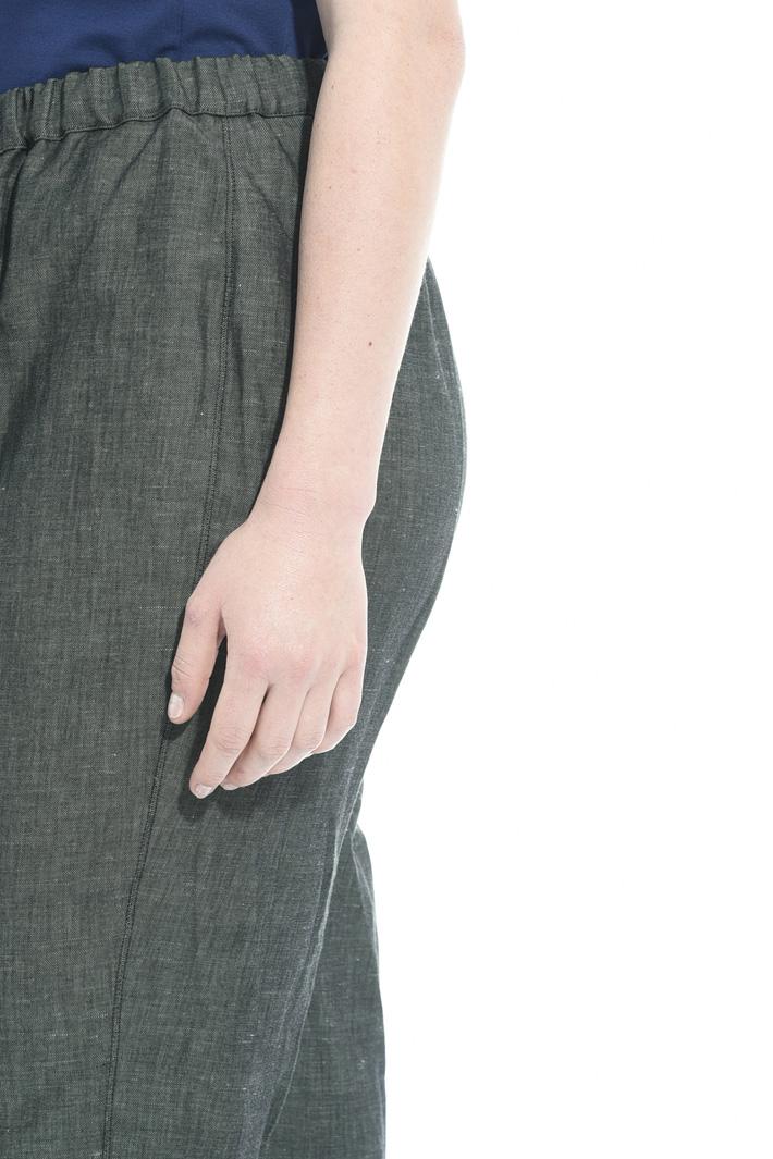 Pantaloni in cotone e lino Fashion Market