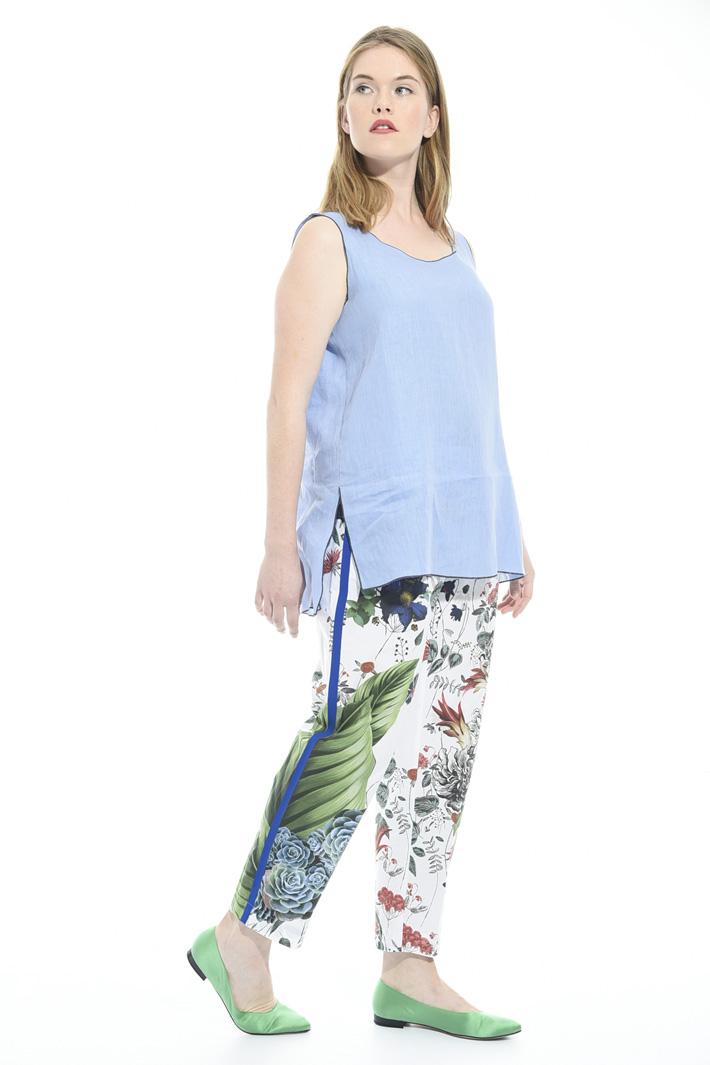 Pantaloni in popeline stampato Fashion Market