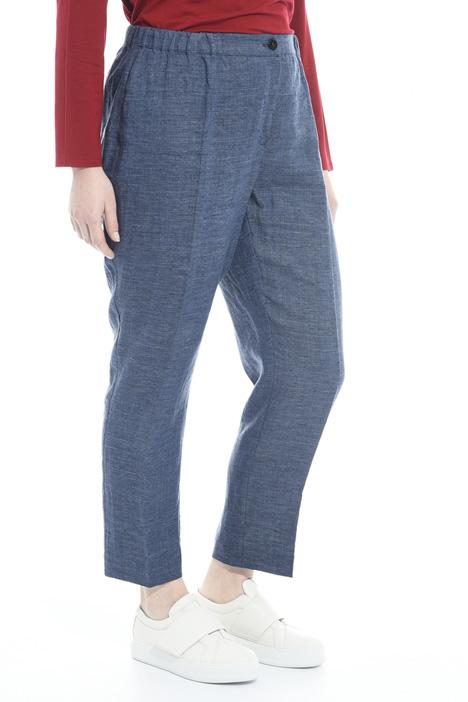 Pantalone a sigaretta in lino Fashion Market
