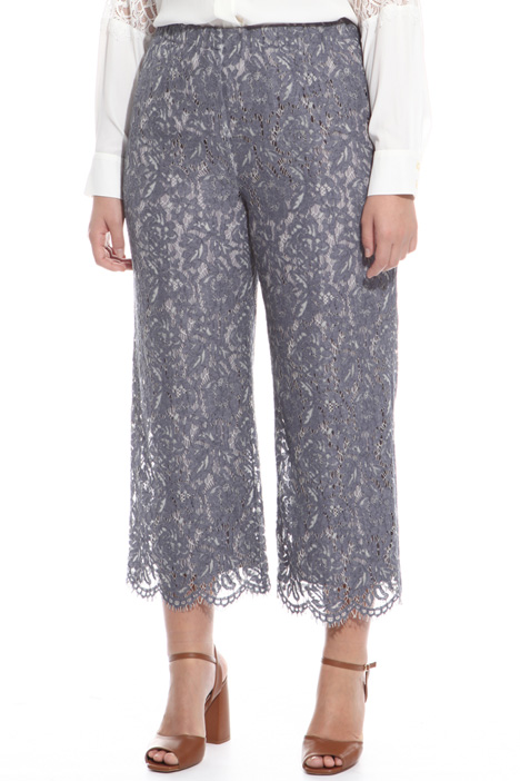 Pantaloni cropped in pizzo  Fashion Market