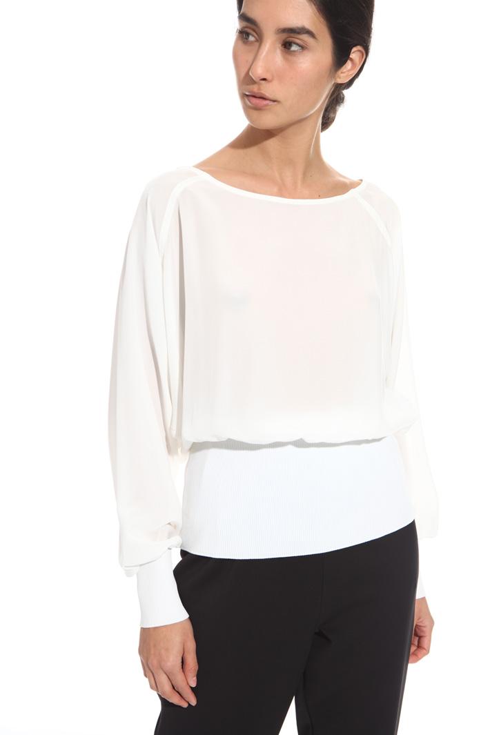 Top con inserti in maglia Fashion Market