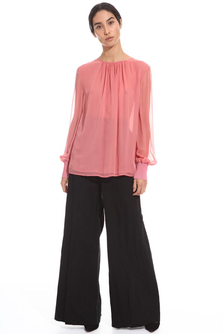 Blusa in gerogette di seta Fashion Market