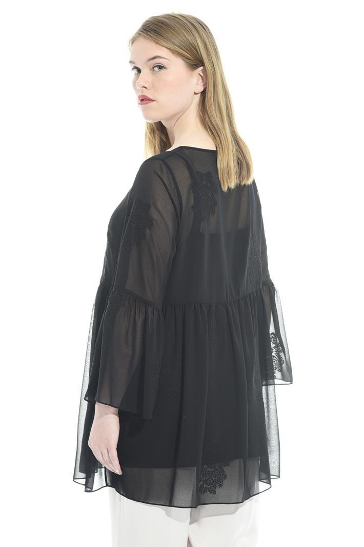 Blusa in georgette con ricami Fashion Market