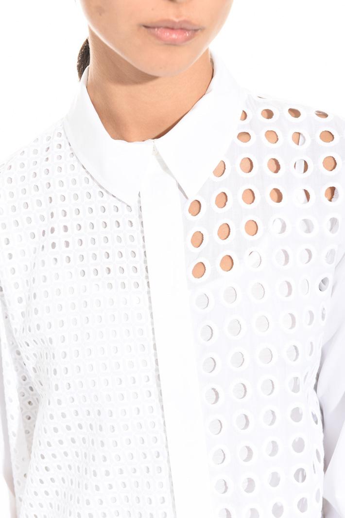 Camicia con pannelli sangallo Fashion Market