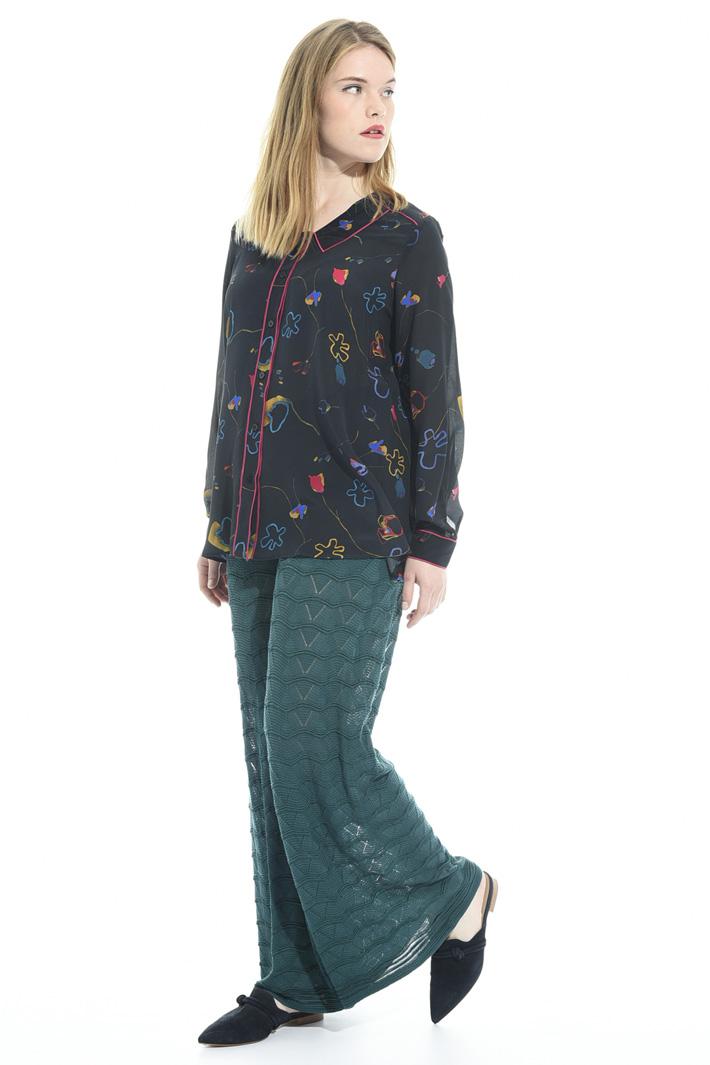 Pantalone palazzo in maglia Fashion Market