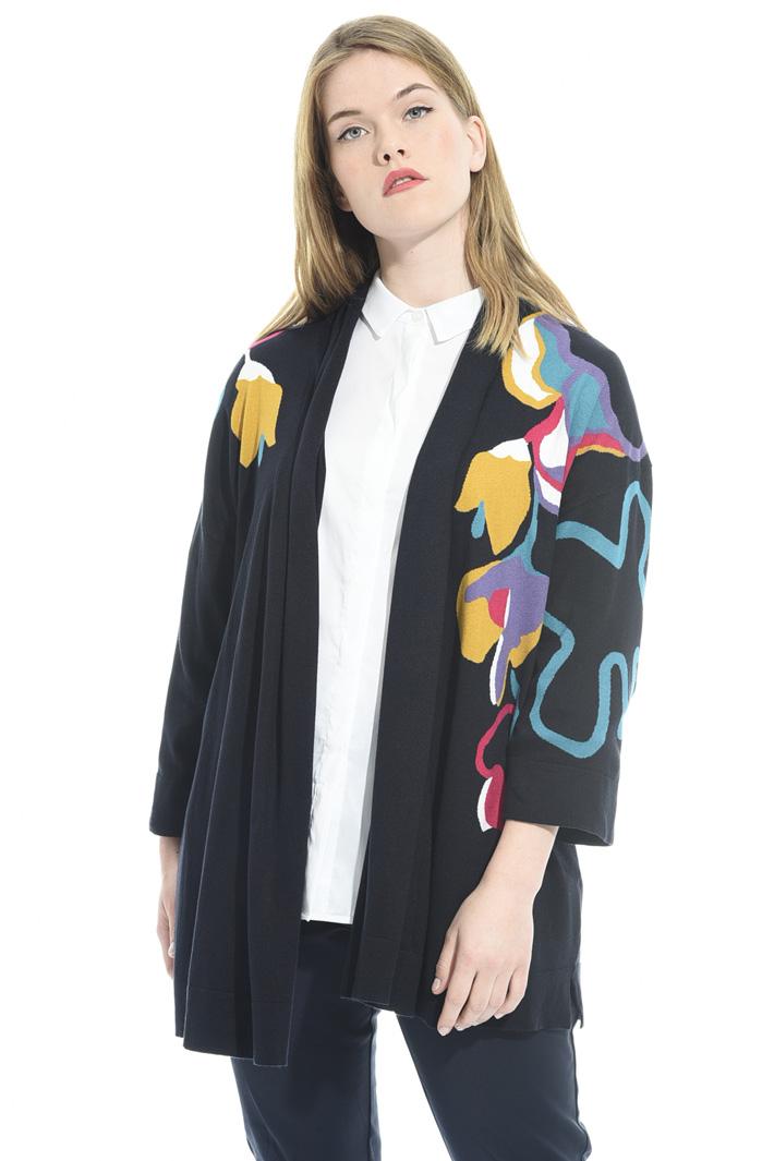Cardigan con motivo floreale Fashion Market