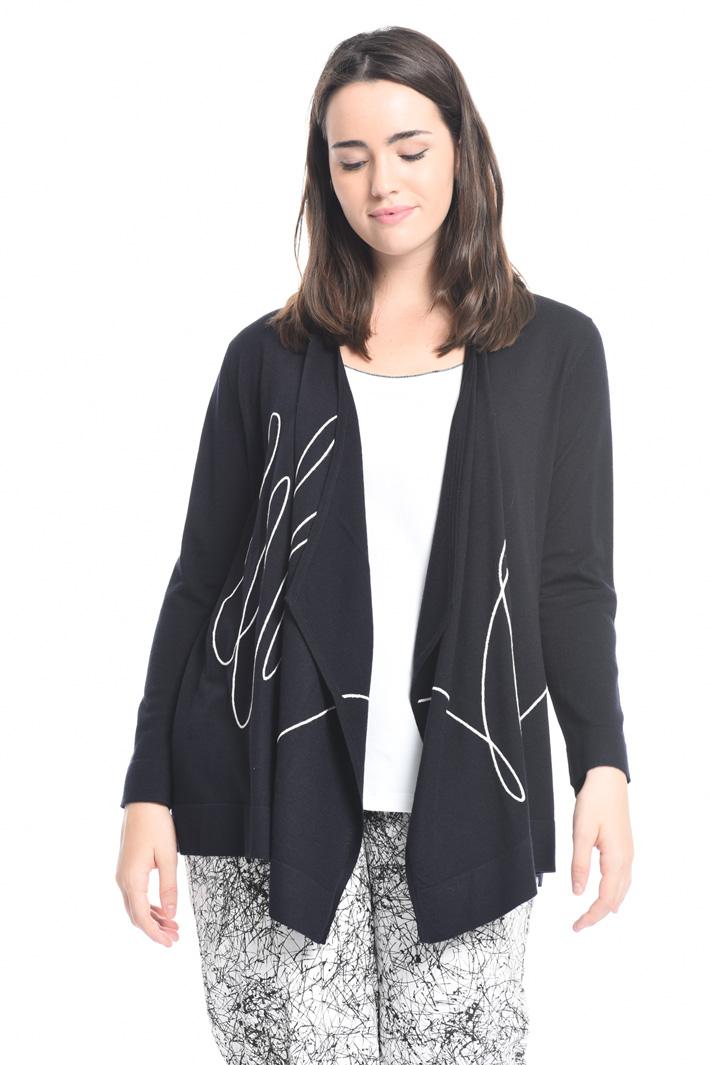 Cardigan in lana con ricamo Fashion Market
