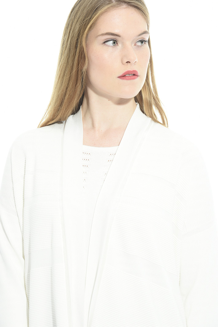 Cardigan con dettagli costine Fashion Market