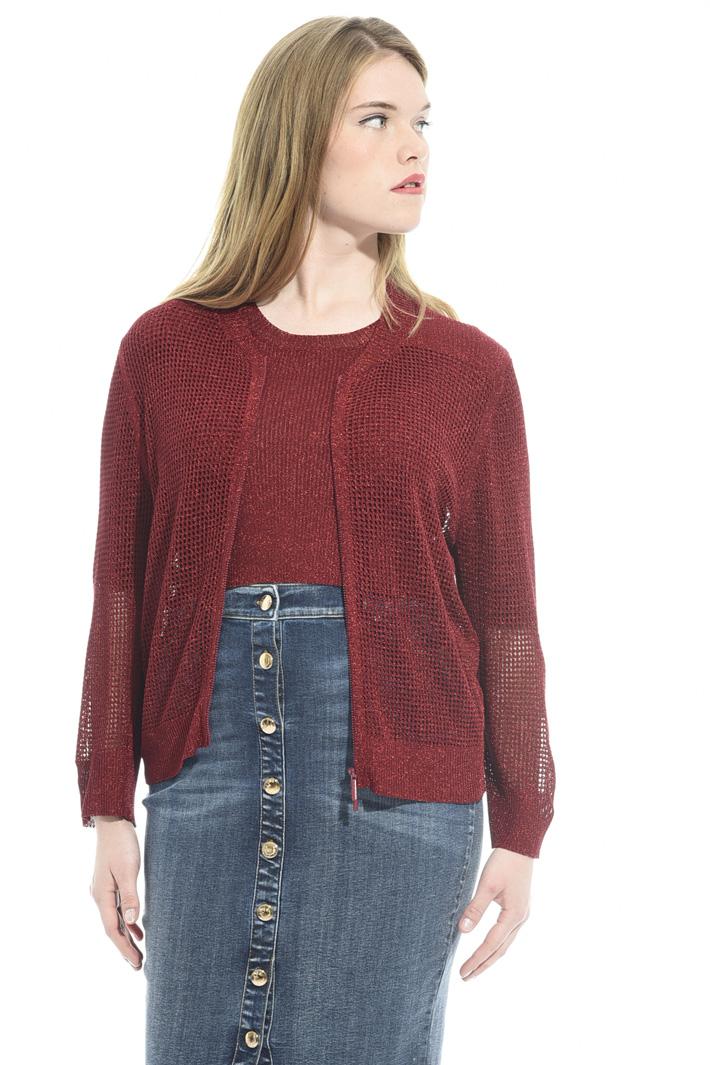 Cardigan in maglia lamé Fashion Market