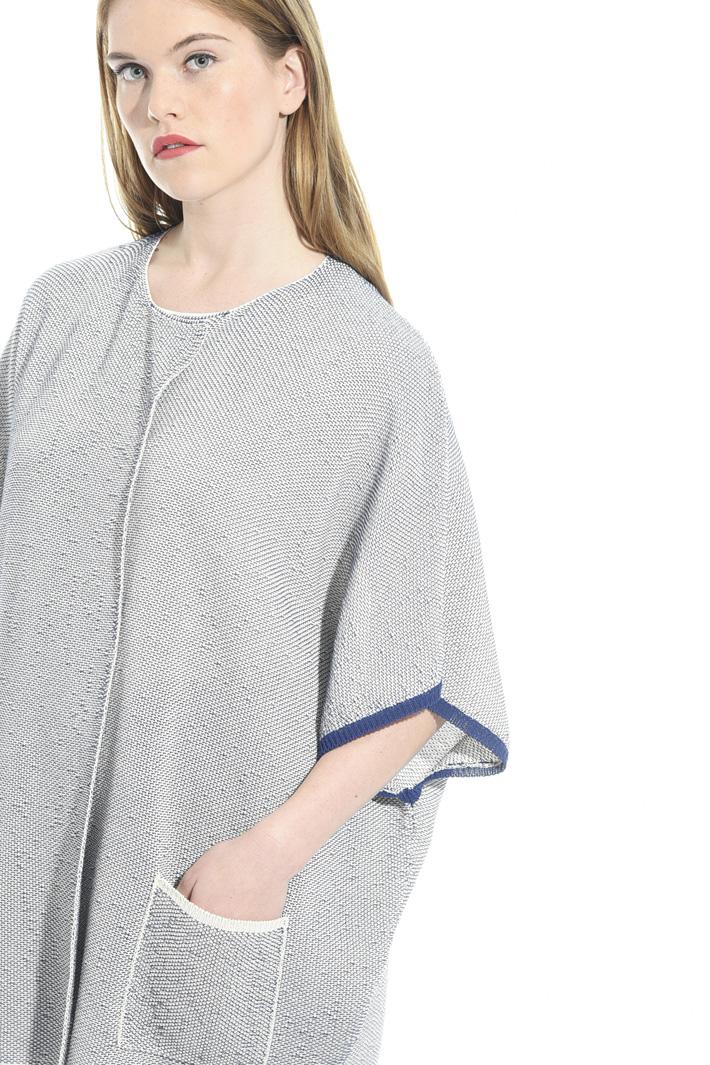 Cardigan in cotone bicolor Fashion Market