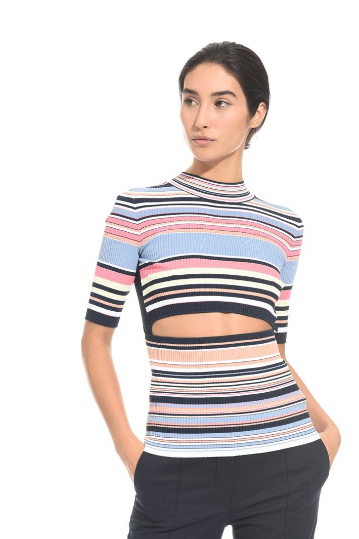 Top a costine con cut-out Fashion Market