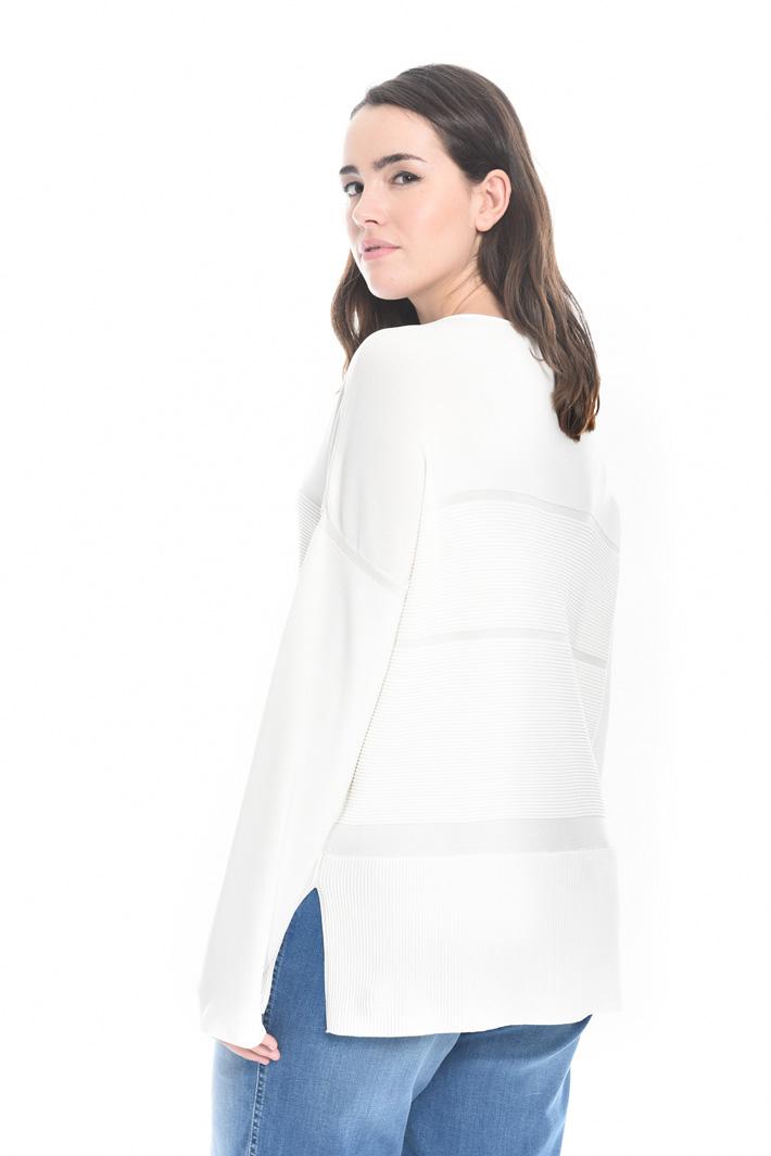 Maglia con inserti a costine Fashion Market