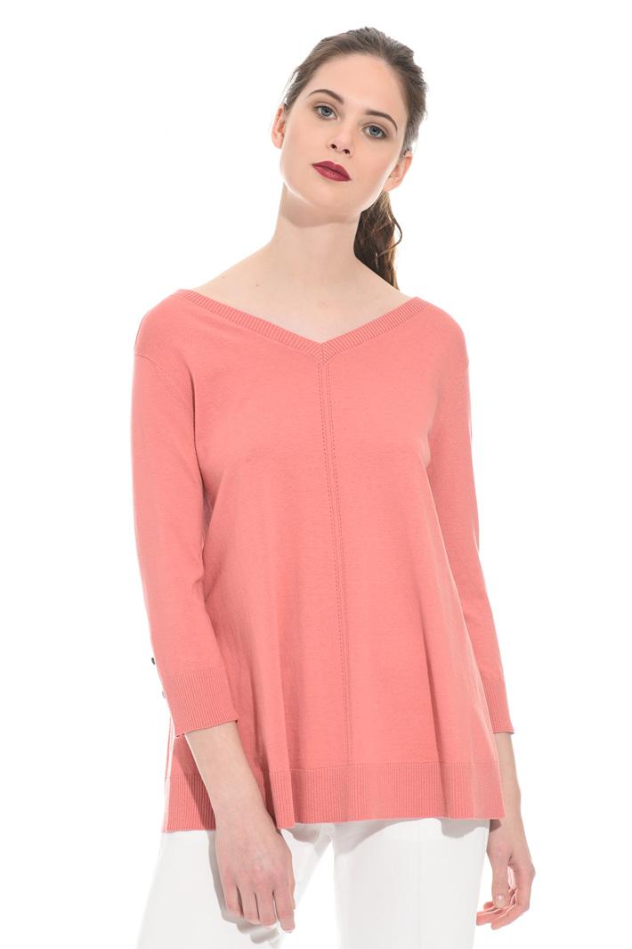 Maglia ampia in cotone e seta Fashion Market