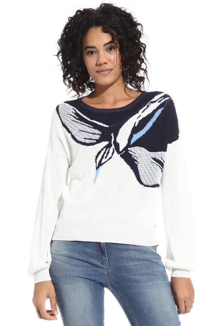 Maglia in cotone jacquard Fashion Market