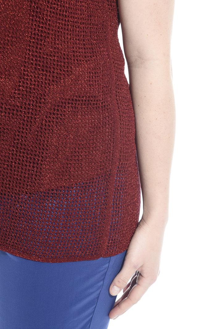 Top in maglia lamé Fashion Market