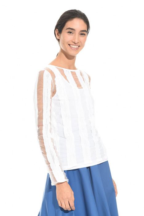 Maglia con filato trasparente Fashion Market