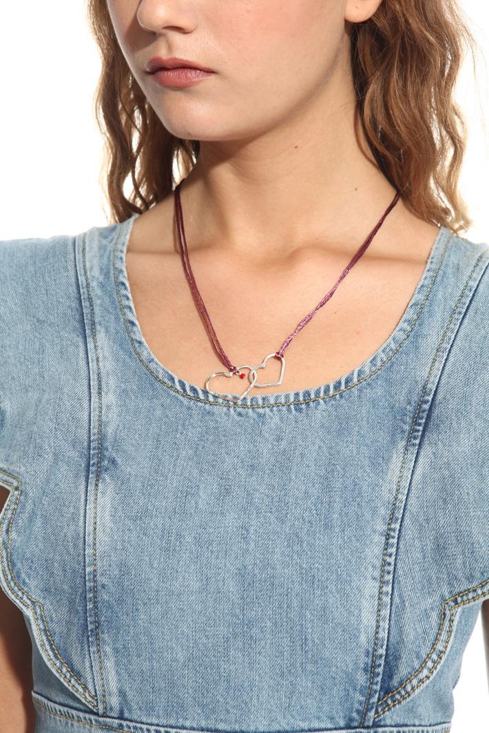 Collana con cuori in metallo Fashion Market