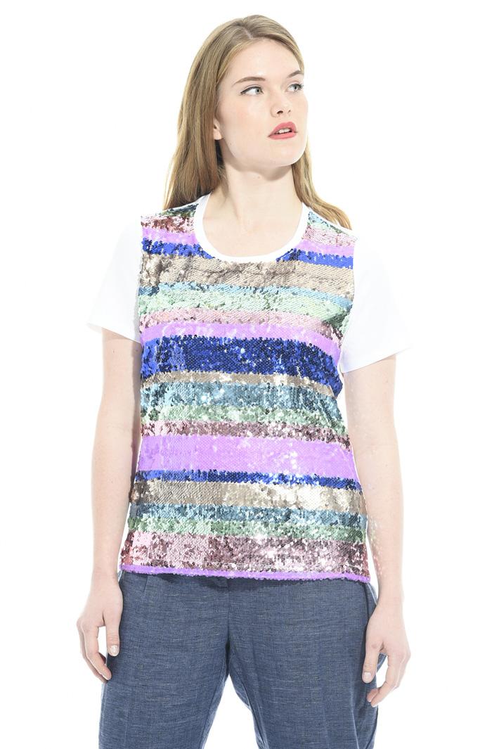 T-shirt con paillettes Fashion Market