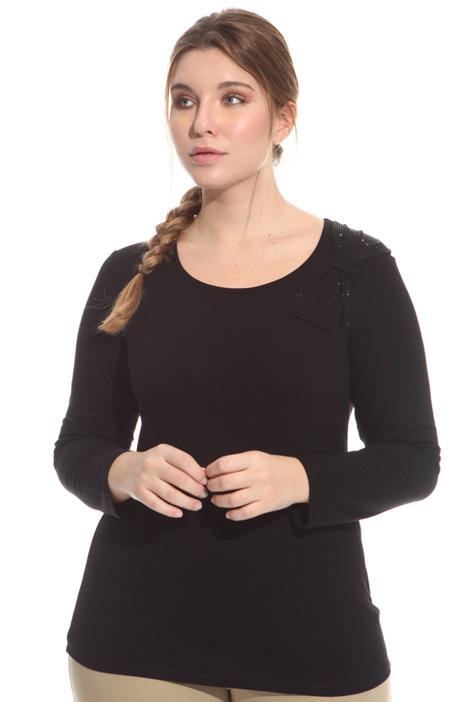 T-shirt con fiocco e strass Fashion Market