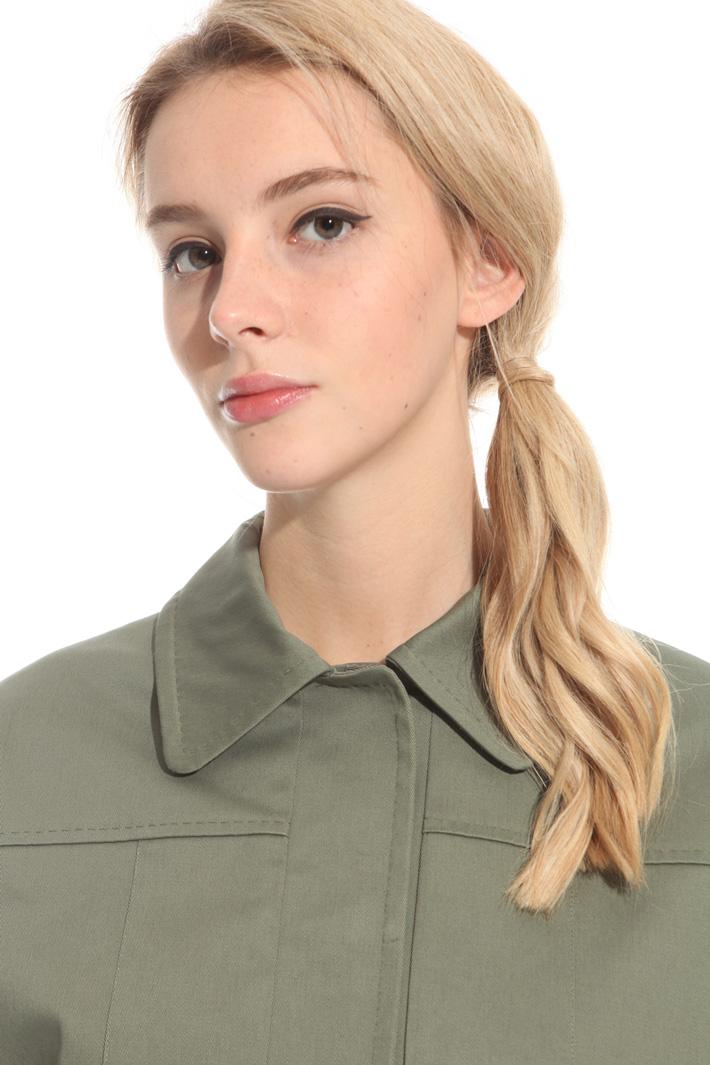 Giacca in drill con stringhe Fashion Market
