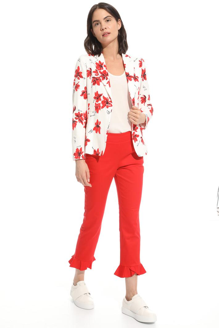 Blazer in faille stampata Fashion Market