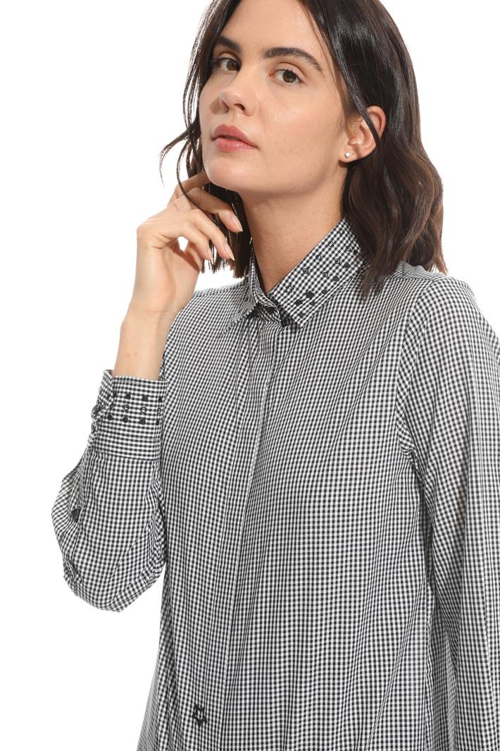 Camicia in popeline tinto filo Fashion Market