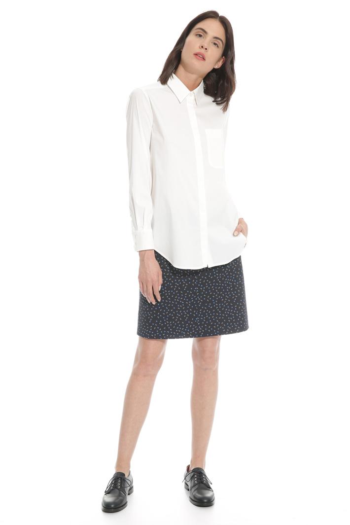 Camicia in popeline a crepe Fashion Market