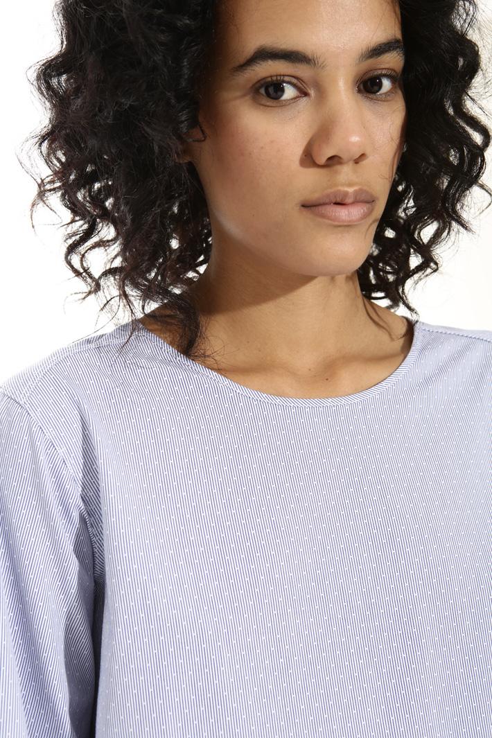 Blusa in bastonetto di cotone Fashion Market