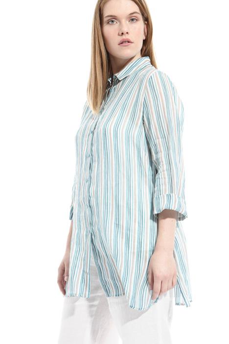 Camicia in lino stampato Fashion Market