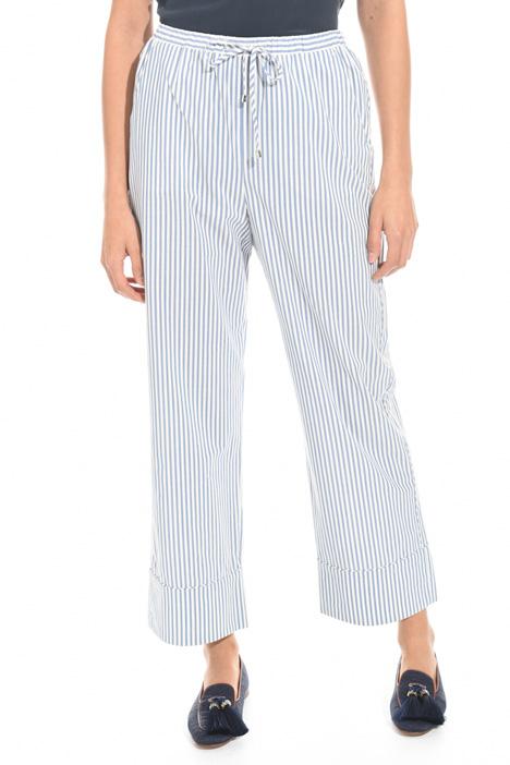 Pantalone in cotone tinto filo Fashion Market