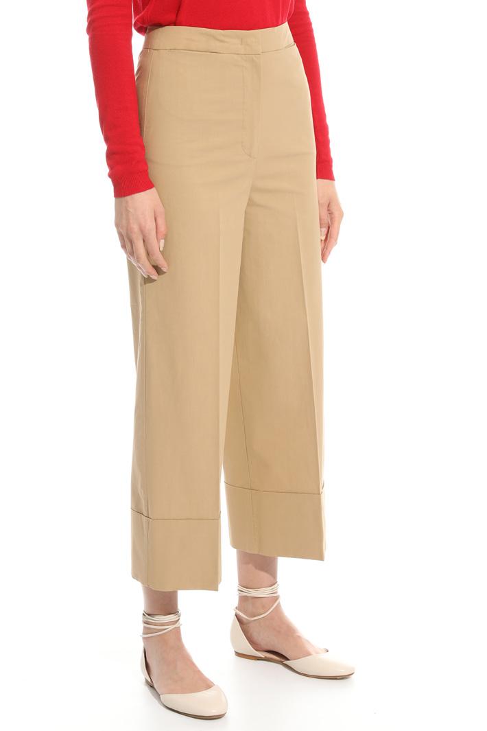 Pantalone cropped in popeline Fashion Market