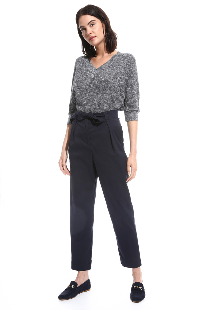 Pantalone stretch a vita alta Fashion Market