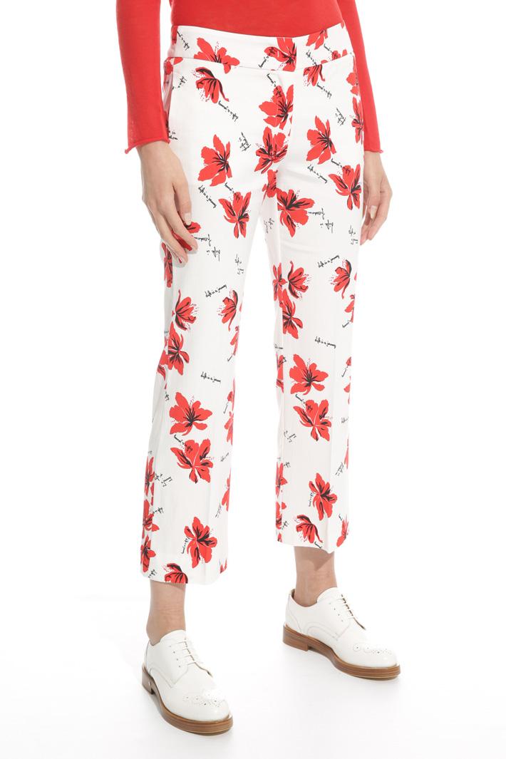 Pantalone in faille stampata Fashion Market