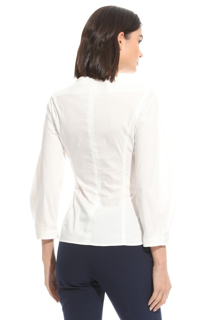 Blusa in cotone con stringhe Fashion Market