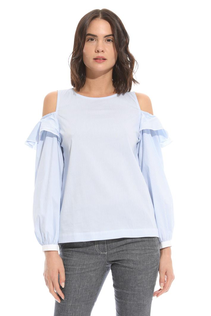 Top in popeline con balze Fashion Market