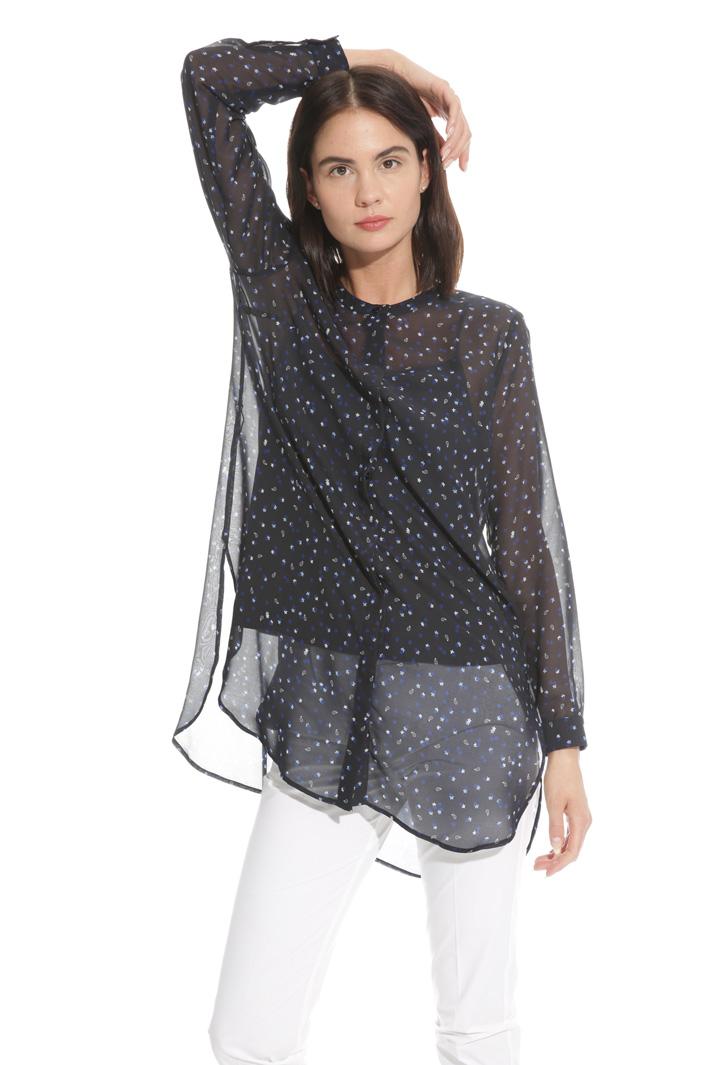 Camicia lunga in crepe Fashion Market