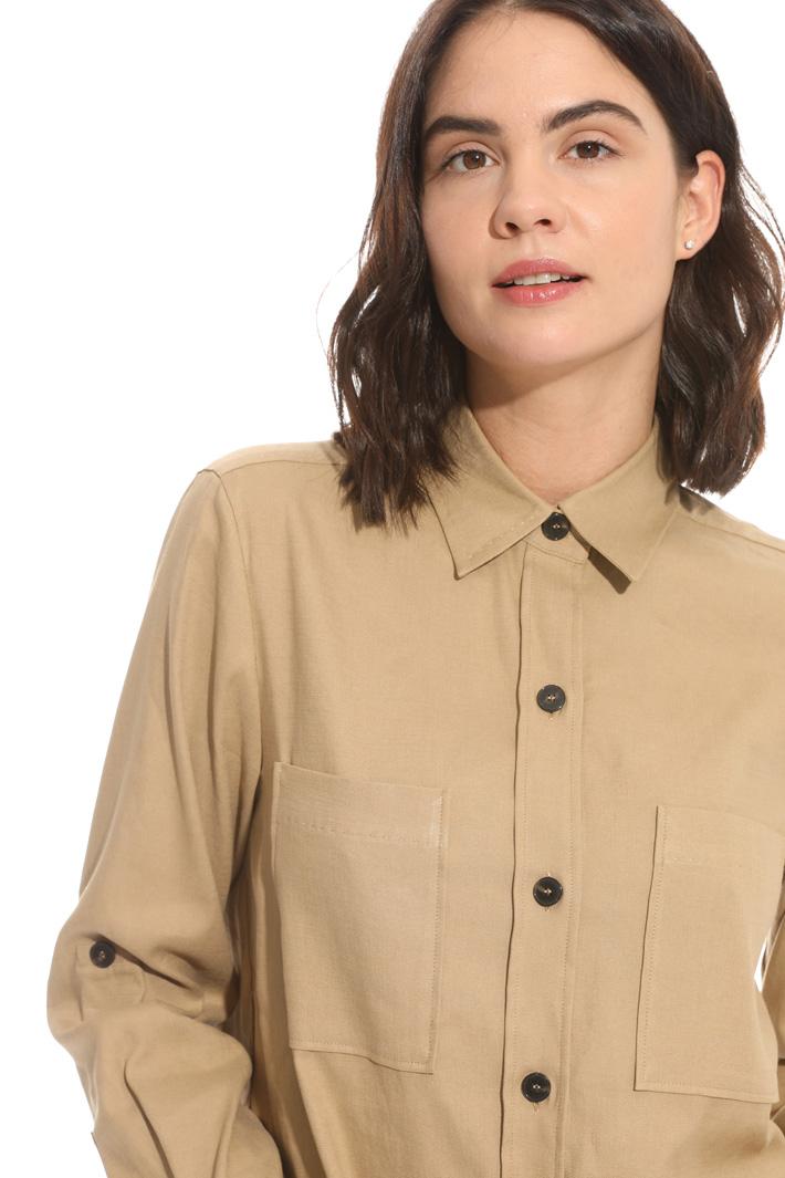 Camicia in stuoia stretch Fashion Market